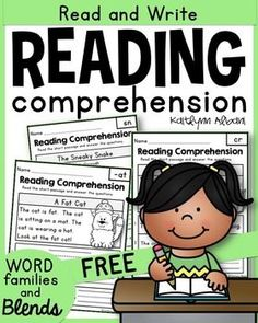 Reading Comprehension Freebie! Passages for blends and word families.