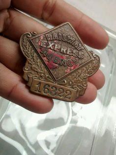 Nice vintage railway express agency badge pin  picclick.com