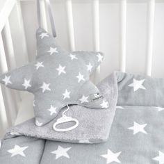 Laufgittereinlage Sterne gestrickt 100 x 85 cm, Grau / Weiss: Amazon.de: Baby