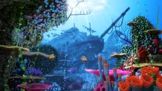 3D cartoon underwater rigged animation - TurboSquid 1259001