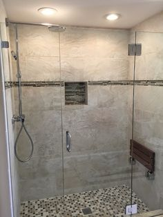 Master Bathroom Remodel with New Tiled Shower in Waterford CT www.shawremodeling.com #bathroom #renovate #remodel #tile #shower #waterfordct #interiordesign #homeimprovement