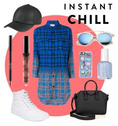 """""""Instant Chill"""" by rachel-blum ❤ liked on Polyvore featuring Yves Saint Laurent, Givenchy, Vans, Zero Gravity, plaid, essie, KylieJenner and fashionset"""
