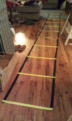 craftyRN: Agility Ladder ... how to make your own workout equipment!