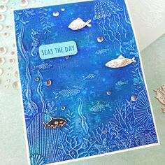 Balloon Words, Memory Box Cards, Balloon Crafts, Beach Cards, Foam Adhesive, Foil Paper, Whittling, Distress Ink, Embossing Folder