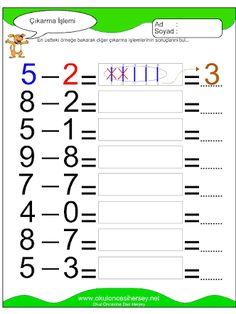 okul öncesi nesnelerle basit çıkarma işlemi - Google'da Ara