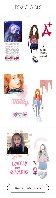 """""""TOXIC GIRLS"""" by official-toxicgrils on Polyvore featuring Lime Crime, GALA, Paul Andrew, Topshop, MANGO, Jeffrey Campbell, Hartmann, Parisian, MSGM e Dr. Martens"""