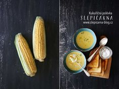 Kukuřičná+polévka+se+ztraceným+vejcem Toast, Vegetables, Soups, Blog, Vegetable Recipes, Soup, Blogging, Veggies