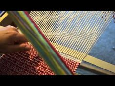 How to make gaps in your weaving to separate projects or a design element.