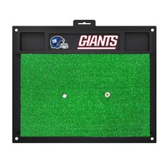 "New York Giants Golf Hitting Mat 20 x 17 - Show off your team pride with Sports Licensing Solutions' golf hitting mats. Removable rubber tee that accepts wooden tee. Anchor mat down in all four corners with tees to keep mat in place. Saves your lawn from divots. Great for left and right handed golfers. FANMATS Series: GOLFHITTINGTeam Series: NFL - New York GiantsProduct Dimensions: 20"" x 17""Shipping Dimensions: 17""x20""x1"". Gifts > Licensed Gifts > Nfl > New York Giants. Weight: 5.00"