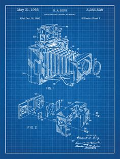 Blueprint art google search art inspiration pinterest camera vintage patent poster screen print decoration technical invention design blueprint schematic retro educational cool screenprint malvernweather Choice Image
