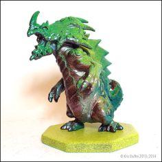 "Monsterpocalypse - Custom Painted Kaiju Invasion Re-Edtion  _________________________________________ •Monsterpocalypse Monster Mini-figure. •3"" Tall • Custom Kaiju Repaint by Kris Dulfer. • Custom made resin base. • Painted with Monster Kolor™ paints.  _________________________________..."