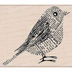 Hero Arts Mounted Rubber Stamps x Newsprint Bird Diy Arts And Crafts, Arts And Crafts Supplies, Diy Supplies, Office Supplies, Sand Crafts, Paper Crafts, Crafts Cheap, Book Crafts, Diy Paper