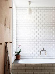 Bathroom Tiles - yes please! (Home of Rebecca McJannett and Fatima Bertolini via The Design Files)