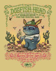 MARQ SPUSTA Dogfish Head Festina Peche Record Store Day STICKER Art from poster