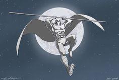 Draw Challenge Moon Knight by warp-zero on DeviantArt Marvel Comic Character, Marvel Characters, Marvel Heroes, Marvel Comics, Marvel Moon Knight, Knight Art, Wolf Moon, Man Thing Marvel, Stars At Night