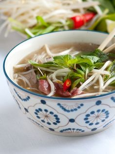 Pho Soup Recipe - Pho Recipe with Video from www.inspiredtaste.net #recipe #soup