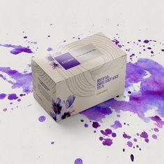Custom label design for Royal Breakfast Tea.  A strong and balanced tea deserves a bold yet delicate package.   #labeldesign #packaging #labeling #tea #violet #design #graphicdesign #branding