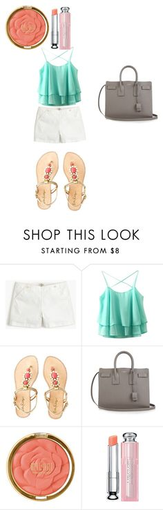 """Teas outfit"" by olivia-weissman on Polyvore featuring J.Crew, Lilly Pulitzer, Yves Saint Laurent, Milani and Christian Dior"