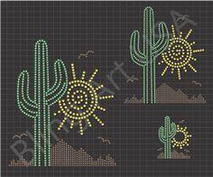 Cactus Rhinestone Downloads Desert Files Bling Art Stone Stencil Sticky Flock Color