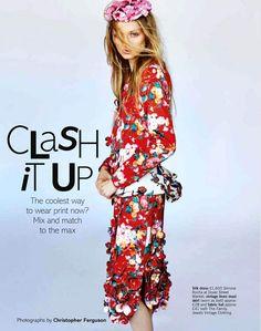 Ash Walker in Simone Rocha for Glamour UK Photo: Christopher Ferguson Stylist: Ye Young Kim