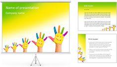 Palms Sorrindo Modelos de apresentações PowerPoint