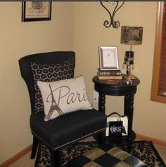 Paris Themed chair