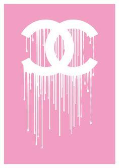 Chanel liquidate dripping logo