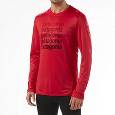 """The Men's """"Capilene 1 Silkweight Graphic Crew"""" is #Patagonia's lightest synthetic baselayer keeps you dry and cool and has 15-UPF sun protection,  this crew warms up a late-season climb. $41.30 -  $59.00 ONLY  ON SALE - up to 30% Off #ecoactiveyou"""