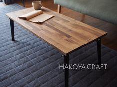 32.アイアン×パイン無垢材の折りたたみテーブル90×40 テーブル/リビングテーブル|テーブル・机|箱屋CRAFT|ハンドメイド通販・販売のCreema