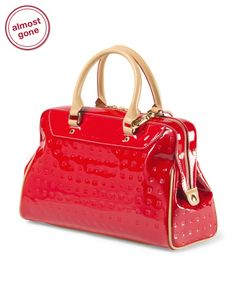 Made in Italy Patent Leather Satchel ARCADIA $149.99 - T.J. Maxx