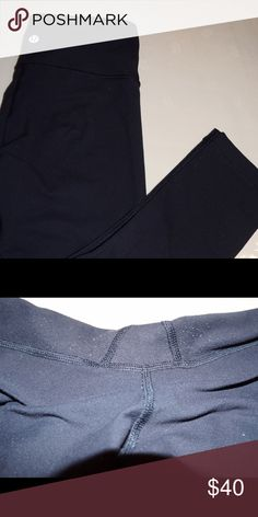 Lululemon black cropped yoga pants Have been worn many times. However are in great condition. Very very slight pilling in the crotch area lululemon athletica Pants Ankle & Cropped