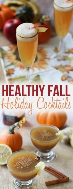 These three healthy fall holiday cocktails are lightened up drinks you won't be able to resist. From Sangria, to Bourbon, to a morning Mimosa, serve these at your next holiday party guilt free! Healthy Cocktails, Fruity Cocktails, Holiday Drinks, Holiday Cocktails, Party Drinks, Holiday Treats, Fall Mixed Drinks, Fall Drinks Alcohol, Alcoholic Drinks