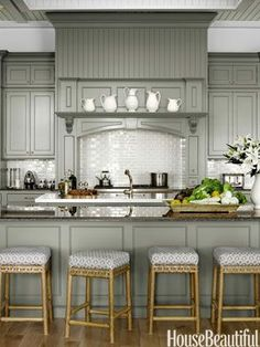 Chelsea Gray by Benjamin Moore gray kitchen cabinets