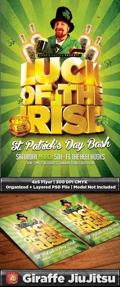 Luck of the Irish St. Patrick's Day Flyer Template