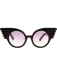 Black Windswept Wings Sunglasses