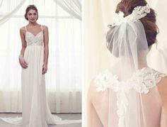 chapel lace romantic  tulle veils white empire waiste vneck wedding dresses sparkly elegant boho bride dress dresses gown hair hippie wedding gowns  www.michaelkorsbagswholesale.com