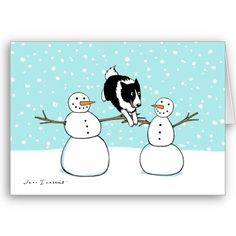 Unique Border Collie Christmas Card! Want it cheaper? Use this link for coupons: https://www.zazzle.com/coupons?rf=238077998797672559