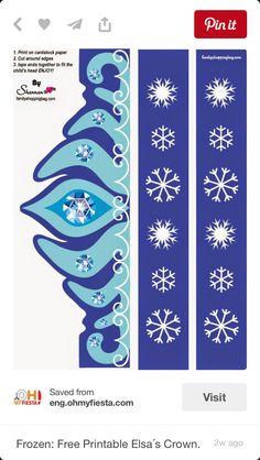 Frozen Elsa build a crown