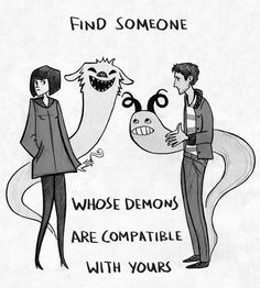 Demons? Well. M'kay. Lemme just embark on an epic quest to find someone whose demon is compatible with mine.