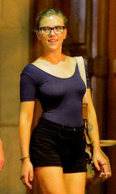 Scarlett Johansson in Paris with Nate Naylor
