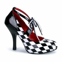 """Harlequin Masquerade Heels (6) Includes one pair of 4"""" high masquerade harlequin heel shoes. Made of 100% PVC. When cleaning be sure to only Spot Clean  Find the perfect shoe to go with your costume.  We have the right shoe for you whether you are looking for a flat or a high heel or a boot, we have the shoe and the sizes to fit your needs.  Our collection of costume shoes is second to none.  Be sure to get a great pair of shoes to match your Halloween costume this year."""