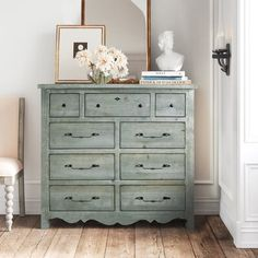 Double Dresser, Dresser With Mirror, French Dresser, Mirror Set, Wall Mirror, Kelly Clarkson, French Farmhouse Decor, Country Farmhouse, French Country Homes