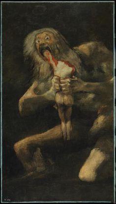 """""""Saturno"""", 1820-1823, Francisco de Goya - Museo del Prado, Madrid."""