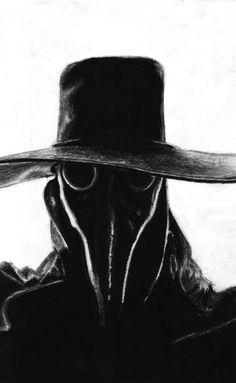 Plague doctor done in charcoal. Took about an hour and a half, but most of it was just adding charcoal. It was interesting to sketch, and many thanks to. The Plague Doctor Dark Fantasy Art, Dark Art, Plague Mask, Doctor Mask, Darkest Dungeon, Arte Obscura, Black Death, Necromancer, Creepy Art