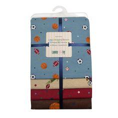 """Lambs & Ivy Team Safari 4-Pack Receiving Blanket - Lambs & Ivy Bedtime - Babies """"R"""" Us"""