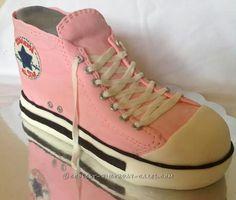 Sweet Sixteen Pink Converse Shoe Cake... Coolest Birthday Cake Ideas
