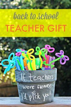 Back to School Sharpie Flower Pot Teacher Gift