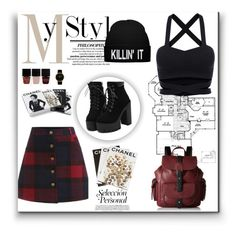 """""""Romwe 8"""" by amra-f ❤ liked on Polyvore featuring Kenneth Cole Reaction, Nails Inc., Larsson & Jennings, Assouline Publishing, Chanel, 1d, romwe and 5sos"""