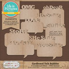 Cardboard Talk Bubbles #lifeinpictures #ProjectLife #digital