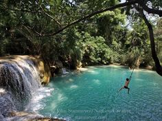 Photograph by @JohnStanmeyer  Children play in the clear waters of the Kuang Si Waterfall located just outside Luang Pabang in northen Laos. Years ago people believed that nine snake protected that sacred waterfall. This photograph was from my @natgeo story #SacredWater.  Pleased to announce my latest Visual Storytelling and Social Media workshop a 9-day event happening in Tbilisi Republic of Georgia June 22-30 2016. Only a few spaces left.  Visit my Instagram profile and click on the…